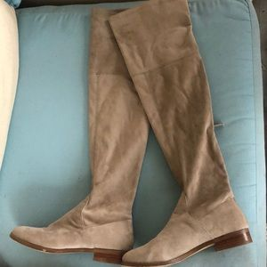 Steve Madden 6M Odessa Tan Over Knee Suede Boots